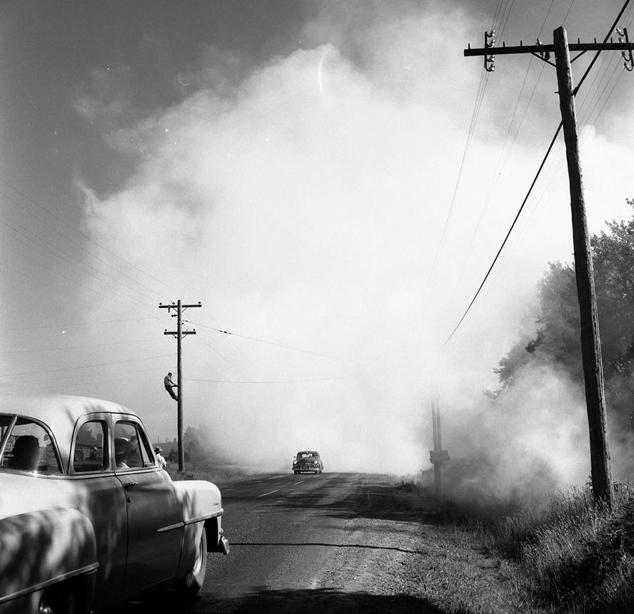 Gorse fire, 1957