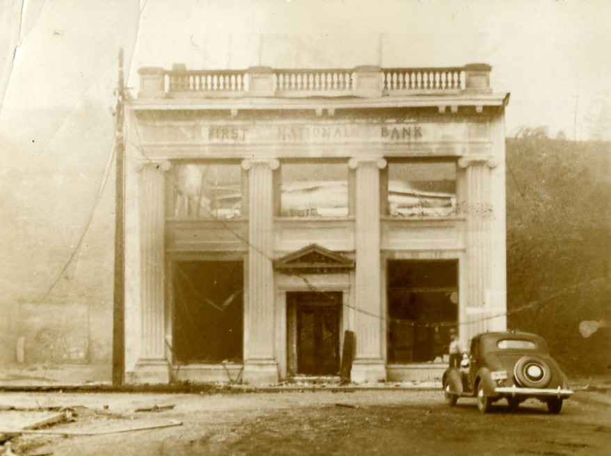 First National/Masonic building after the Fire of 1936