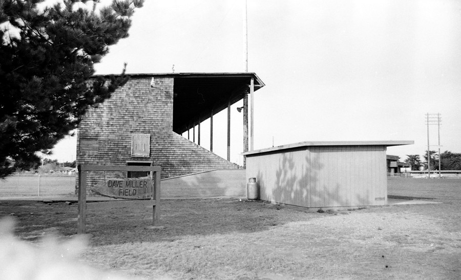 Grandstand at Dave Miller Field 1979
