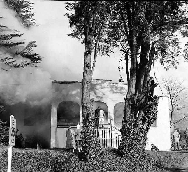 Kronenberg's office fire on Feb. 2, 1956