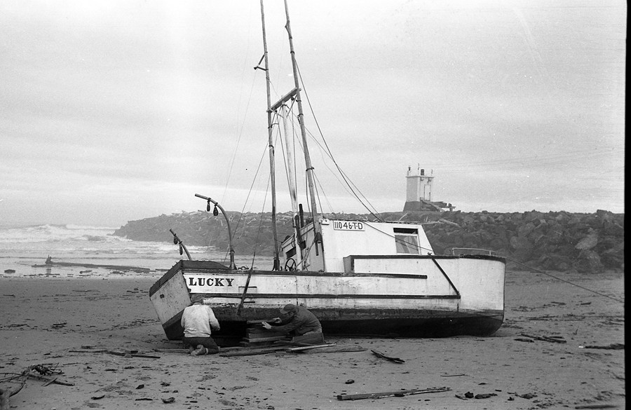 The Lucky washed ashore in 1963