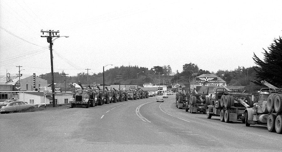 Log truck drivers strike 1959