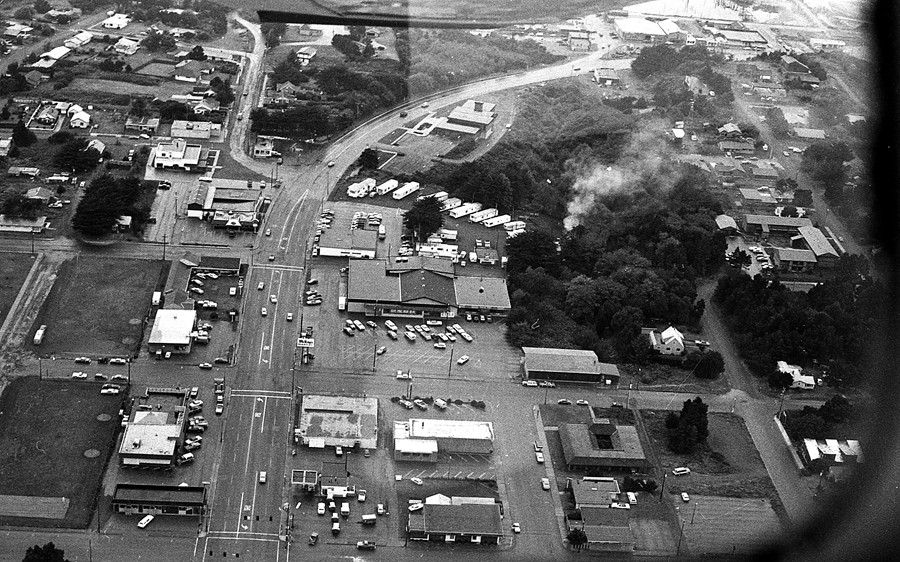 Aerial photo of Bandon from the mid 70's