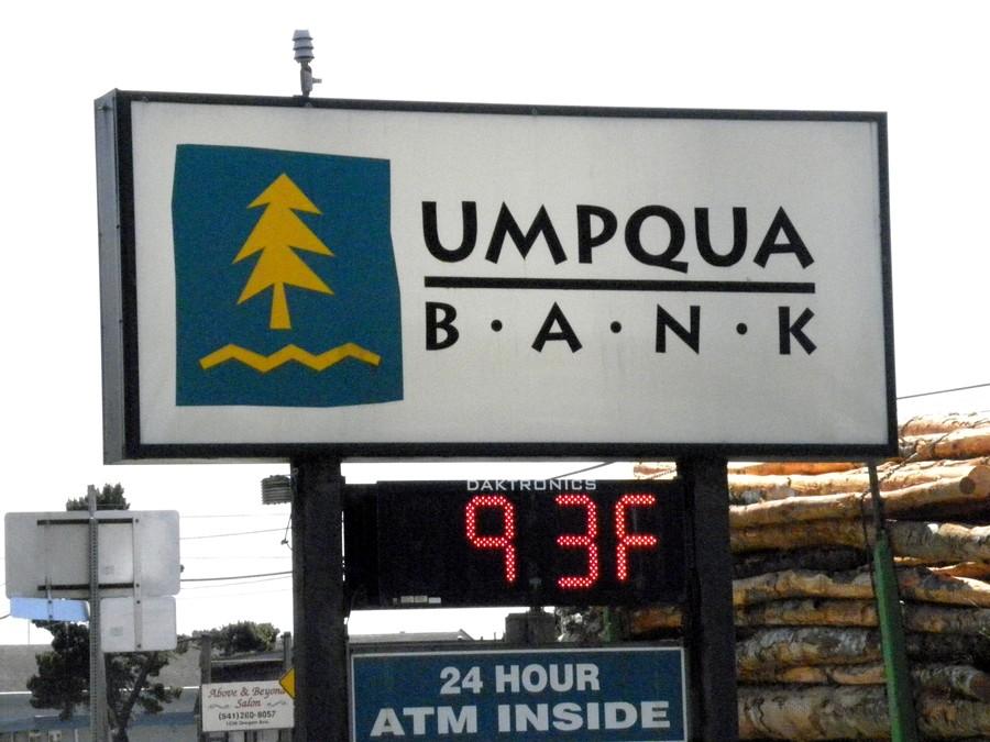Temperature at Umpqua Bank