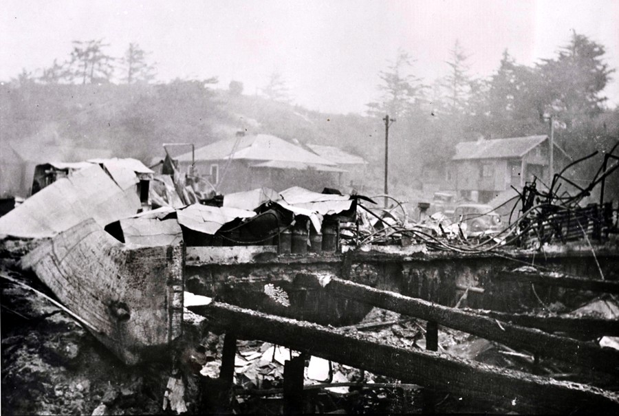 Bandon Cheese Factory after the 1936 fire