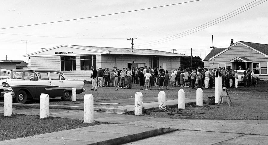 Evacuation drill, 1959