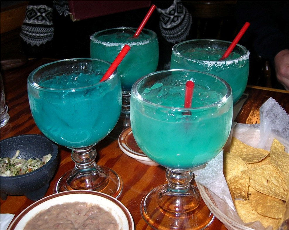 blue margaritas at Rancho Viejo